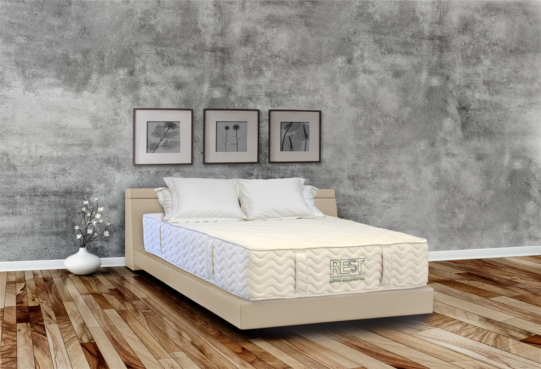 modern urban bedroom with decoration